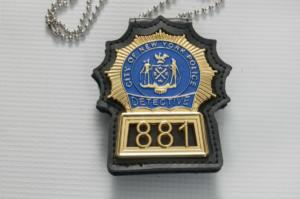 New York Police Detective Badge